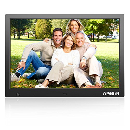 Digital Photo Frame, APESIN 15.4 Inch HD Screen(Black) by APESIN