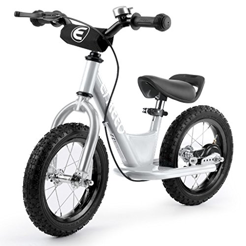 ENKEEO 14'' Sport Balance Bike No Pedal Control Walking Bicycle Transitional Cycling Training with Adjustable Seat and Upholstered Handlebars for Kids Toddlers under 4'1'' Height, - Handlebars 1'
