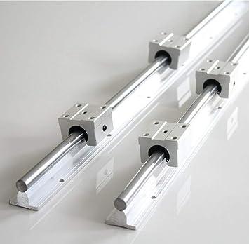 Fully Supported SBR12-600mm 12MM Linear Bearing Rails Shaft Rod+2x SBR12UU Block
