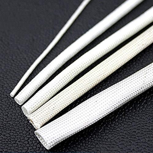 ART IFACT 5 m of Fiberglass Insulation Tube Sleeves (White, 5 mm)