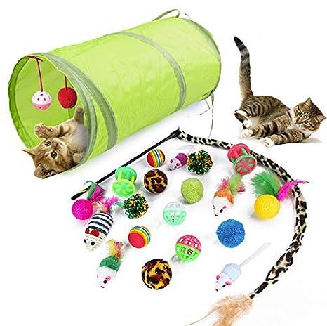 WeFine Cat Toys - Juego de Juguetes interactivos para Gatos de ...