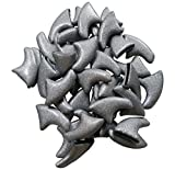Potomac Banks 20 Piece Soft Designer Cat Nail Caps with Glue for Claws Fashion Tip Covers (Silver - Small)(Comes with Free How to Live Stress Free Ebook)