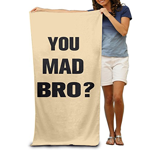 LCYC You Mad Bro Adult Colorful Beach Or Pool Hooded Towel - Club Buyers Sunglass