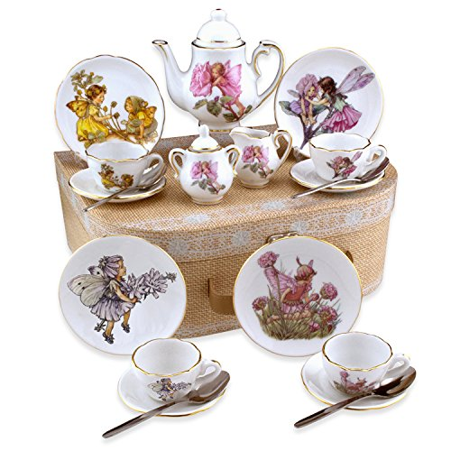 Flower Fairies Child's Tea Set By Reutter Porcelain - (Med) Dishwasher Safe