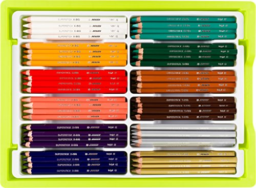 Jolly X-Big Premium Jumbo Colored Pencils with Stackable Storage Box; 180 Pcs (15 each of 12 secondary colors), Perfect for Group Projects and Classrooms, Special Needs, Art Therapy, Pre-School by Jolly
