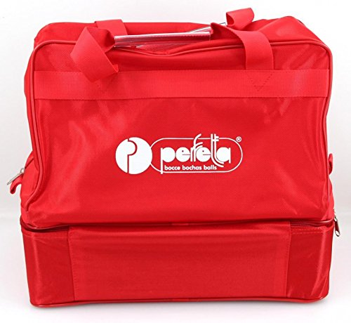 Perfetta Pro Nylontasche rot für 8 Boccia - Kugeln (bis 110mm) und Zubehör