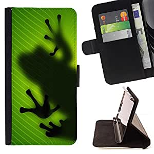 For Samsung Galaxy S3 III I9300 Frog Leaf Nature Tropical Rainforest Green Leather Foilo Wallet Cover Case with Magnetic Closure