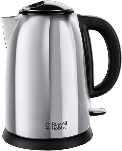Russell Hobbs Victory - Hervidor de Agua Eléctrico (1,7 litros, Acero Inoxidable, 2400W, Gris Brillante) -ref. 23930-70: Amazon.es: Hogar