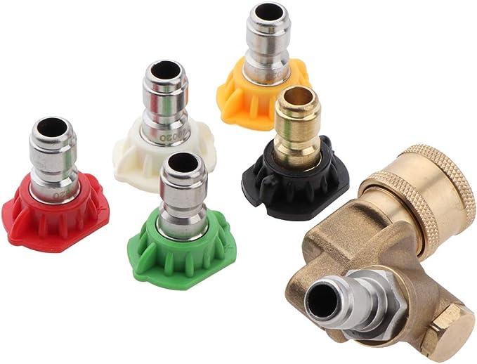 7 x Hochdruckreiniger Spritzdüsenspitzen Zubehör für Hochdruckreiniger