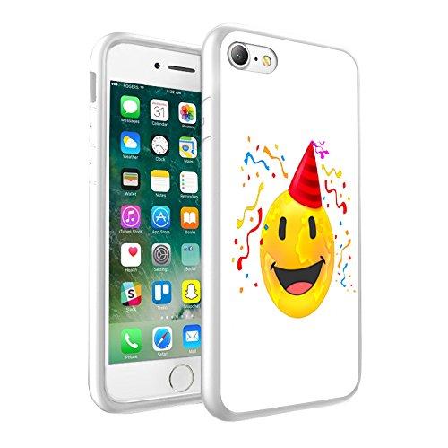 iPhone X étui Peau de couverture, Protection unique personnalisée couverture rigide mince Thin Fit PC Étui de protection résistant aux rayures Couverture pouriPhone X - Emoji 0010