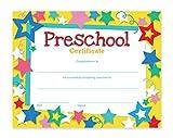 Preschool Certificates - 60-Pack Award Certificate Paper, Recognition Certificate Ideal for Teachers, Schools, Children, 8.5 x 11 Inches