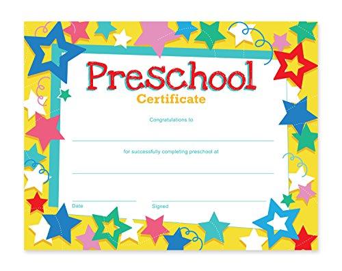 Preschool Graduation Diploma - Preschool Certificates - 60-Pack Award Certificate Paper, Recognition Certificate Ideal for Teachers, Schools, Children, 8.5 x 11 Inches