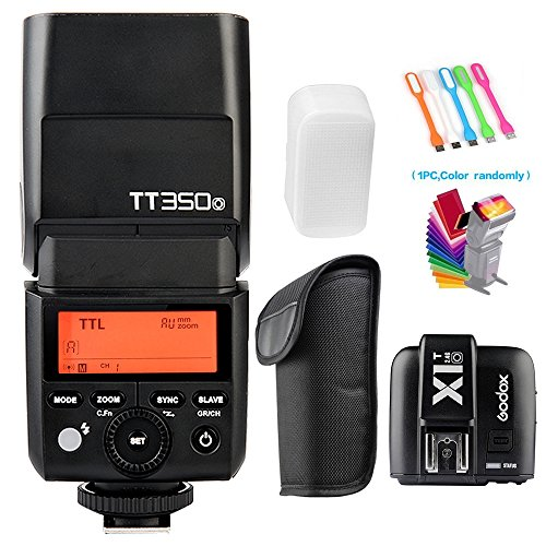 Godox TT350-O TTL GN36 HSS 1/8000s 2.4G Flash Speedlite +X1T-O Wireless Trigger Transmitter Compatible Olympus Panasonic Cameras
