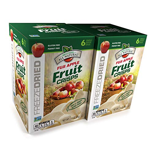 (Brothers All Natural Freeze Dried Fuji Apple Fruit Crisps, 2.12 oz, 6Count (Pack of 2))