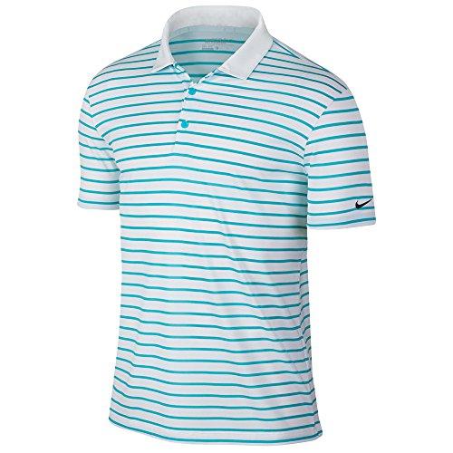 Polo Nike Omega Icon black white Stripe Blue drwrSg