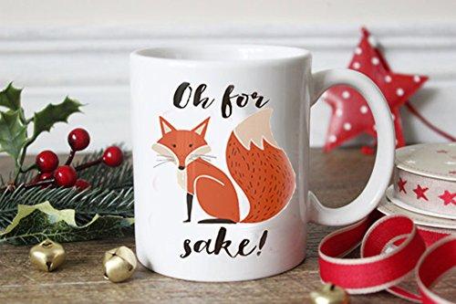 LHKSER Funny Mugs/Fox Mug---Oh for Fox sake---Funny Gifts for women/men,Ceramic Coffie Mug 11Oz … (Fox B)