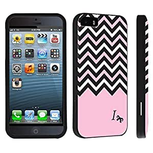 DuroCase ? Apple iPhone 5 / iPhone 5s Hard Case Black - (Black Pink White Chevron I)