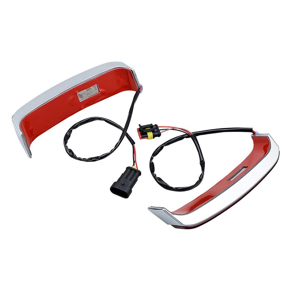 LED Saddlebag Run//Brake//Turn Lamp Black Housing//Smoke Lens