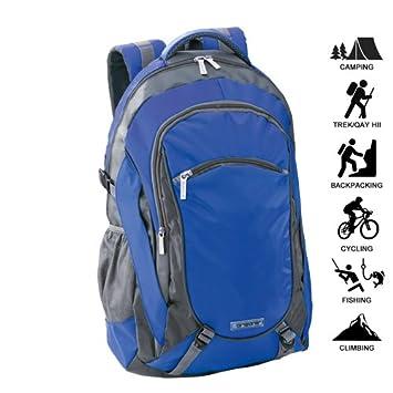 Mochila ORIZONS® Montaña Senderismo Trekking Camping Viaje Barata 50 L - Impermeable, Hombres y Mujeres (AZUL): Amazon.es: Deportes y aire libre