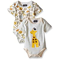 Mud Pie Baby Bodysuit Set, Safari, 3-6 Months