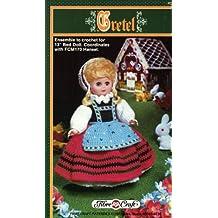 """Gretel - Crochet Pattern for 13"""" Bed Doll. FCM 171"""