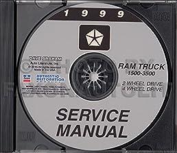 1999 dodge ram truck pickup repair shop service manual cd rh amazon com 1999 dodge ram 2500 service manual 1999 Ram 2500 Tow Capacity