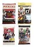 2016 Panini NFL Football Cards Factory Sealed 4 Pack Combo Donruss Score Panini & Contenders Look for Rookies & Autographs of Ezekiel Elliott Dak Prescott Carson Wentz 36 Cards!
