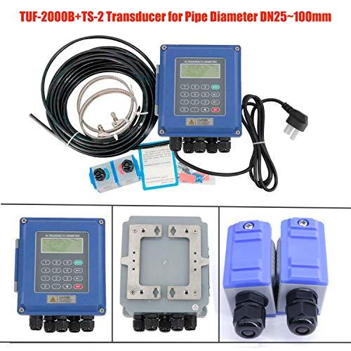 HFBTE TUF-2000B Ultrasonic Flow Meter Flowmeter DN25~100mm TS-2 Small Size Clamp-on - Meter Portable Ultrasonic Flow