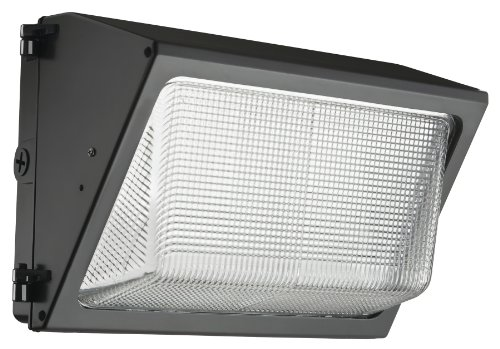 Lithonia Lighting TWR1 LED 3 50K MVOLT M2 LED Small Bronze Wall Pack with Glass Lens 5000K and 4,900 (Cast Aluminum Small Flush)