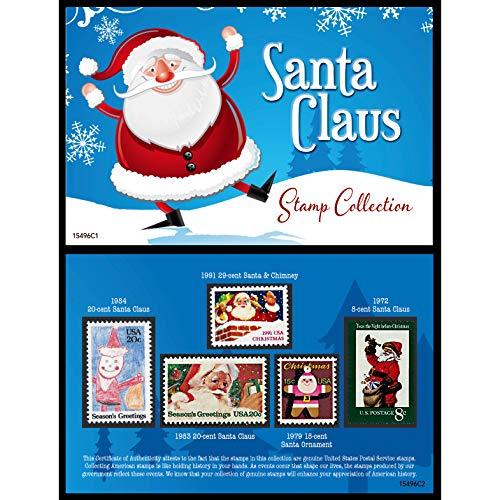 (Santa United States Postage Stamp Card)