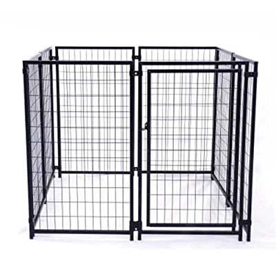 ALEKO® 5'x5'x4' Dog Kennel Heavy Duty Pet Playpen Dog Exercise Pen Cat Fence Run for Chicken Coop Hens House