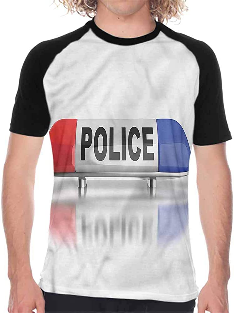 Police,Men T Shirts Fashion Do Not Pass Wraps,Mens Short Sleeve Shirts Sports