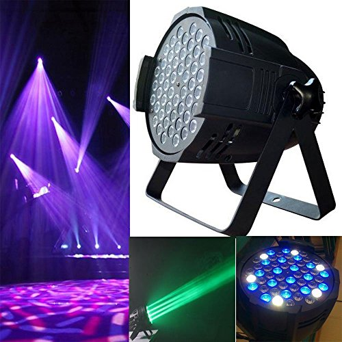 Sumger 6CH 180W 54 LEDS RGB Par Lighting With Sound Active 512 DMX Stage Light For KTV Xmas Party Wedding Show Club Pub Disco DJ And More by Sumger