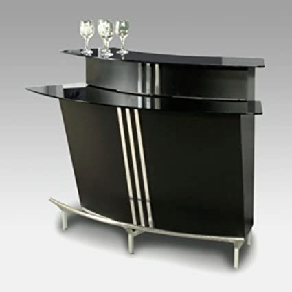 Amazon.com - Chintaly Broadway Two Tiered Indoor Home Bar - Kitchen ...