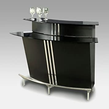 Amazon.com - Chintaly Broadway Two Tiered Indoor Home Bar ...