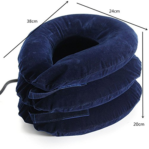 Air Inflatable Pillow Cervical Neck Headache Pain Traction Support Brace Device Blue by Essort (Image #4)