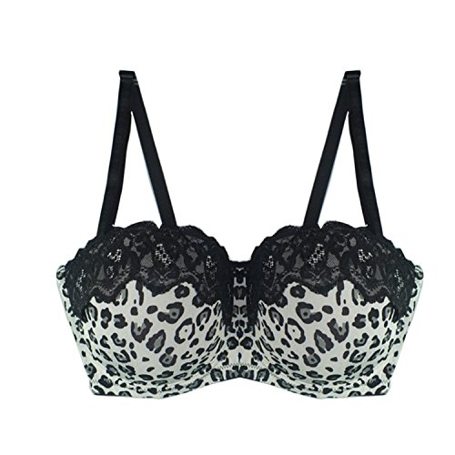9b7870e74a183 Woodin Women Large Bra Plus Size 36-44 D Dd Ddd Unerwire Big Cup Sexy  Strapless Half Cup Bralette Big Size at Amazon Women s Clothing store