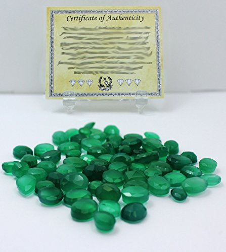 50 Carat Green Onyx Natural Loose Gemstones Wholesale Lot w/Beverly Oaks LLC Exclusive Certificate of Authenticity
