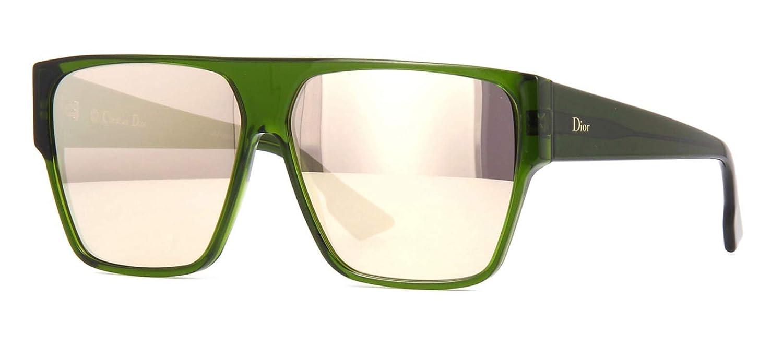 1c2f5e4fae3b0 Amazon.com  Christian Dior DIORHIT 01ED Green Square Sunglasses for   Clothing