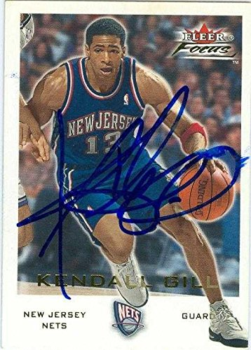 competitive price d4c8a a97a0 Kendall Gill autographed Basketball Card (New Jersey Nets ...