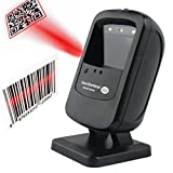 Omnidirectional 1D Barcode 2D QR Code Desktop Scanner Automatic Scanning USB Cables Directly Use For Supermarket Retails Stores POS System