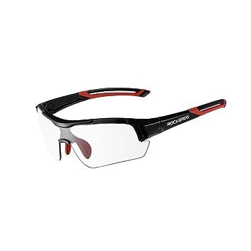 c57a3a5adc ROCKBROS - Gafas de Sol Unisex fotocromáticas para Ciclismo, protección UV para  Deportes al Aire Libre, Negro y Rojo: Amazon.es: Deportes y aire libre