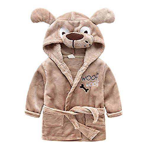 Toddlers/Kids/Baby Soft Fleece Bath Robe Bathrobe Pajamas Sl