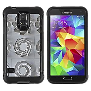 Paccase / Suave TPU GEL Caso Carcasa de Protección Funda para - 3D Pattern Art White Clean Plastic - Samsung Galaxy S5 SM-G900