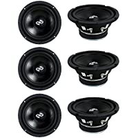 6) Pyle PDMR6 MidRange 6.5 1800W Car Mid Bass Mid Range Woofers Audio Speakers