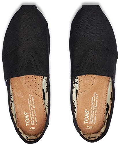 Toms Classic Nero Bianco Donna Canvas Espadrillas Scarpe Slipons