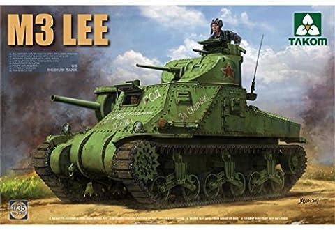 Takom 1:35 US M3 Medium Tank Lee Early Version Plastic Model Kit #2085 (M3 Lee Tank Model)