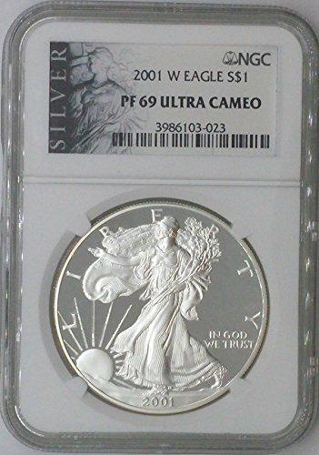 2001 W American Eagle $1 PF69 NGC PF