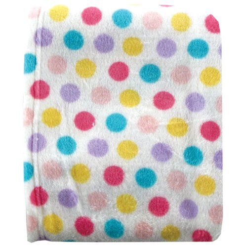 Luvable Friends Dot Print Coral Fleece Blanket, Pink , size 30 X 36 by Luvable Friends   B0043XEIMG