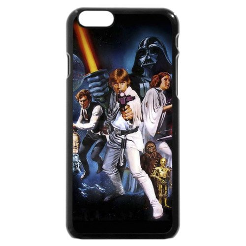 UniqueBox - Customized Personalized Black Hard Plastic iPhone 6 4.7 Case, Star Wars iPhone 6 4.7 case, Star Wars Han Solo, Death Star, Darth Vader, Logo iPhone 6 4.7 case, Only fit iPhone 6 4.7